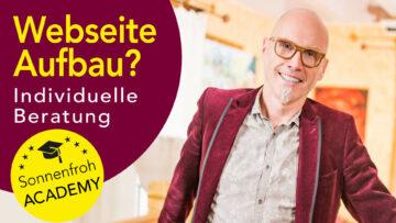 Individuelle Beratung Webseite - Sonnenfroh Werbeagentur