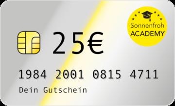 Persönlicher Gutschein 25 Euro – Sonnenfroh Werbeagentur
