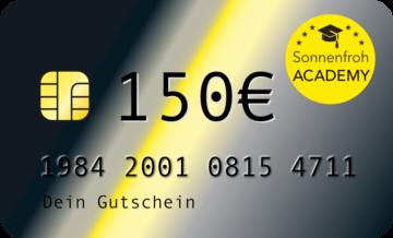 Persönlicher Gutschein 150 Euro – Sonnenfroh Werbeagentur