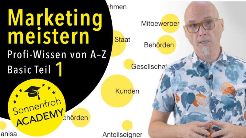 Marketing meistern in Werbung, Design, Online & Werbung! Kurs Grundlagen 1